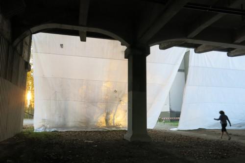 Viaduct Curtain Found Infrastucture