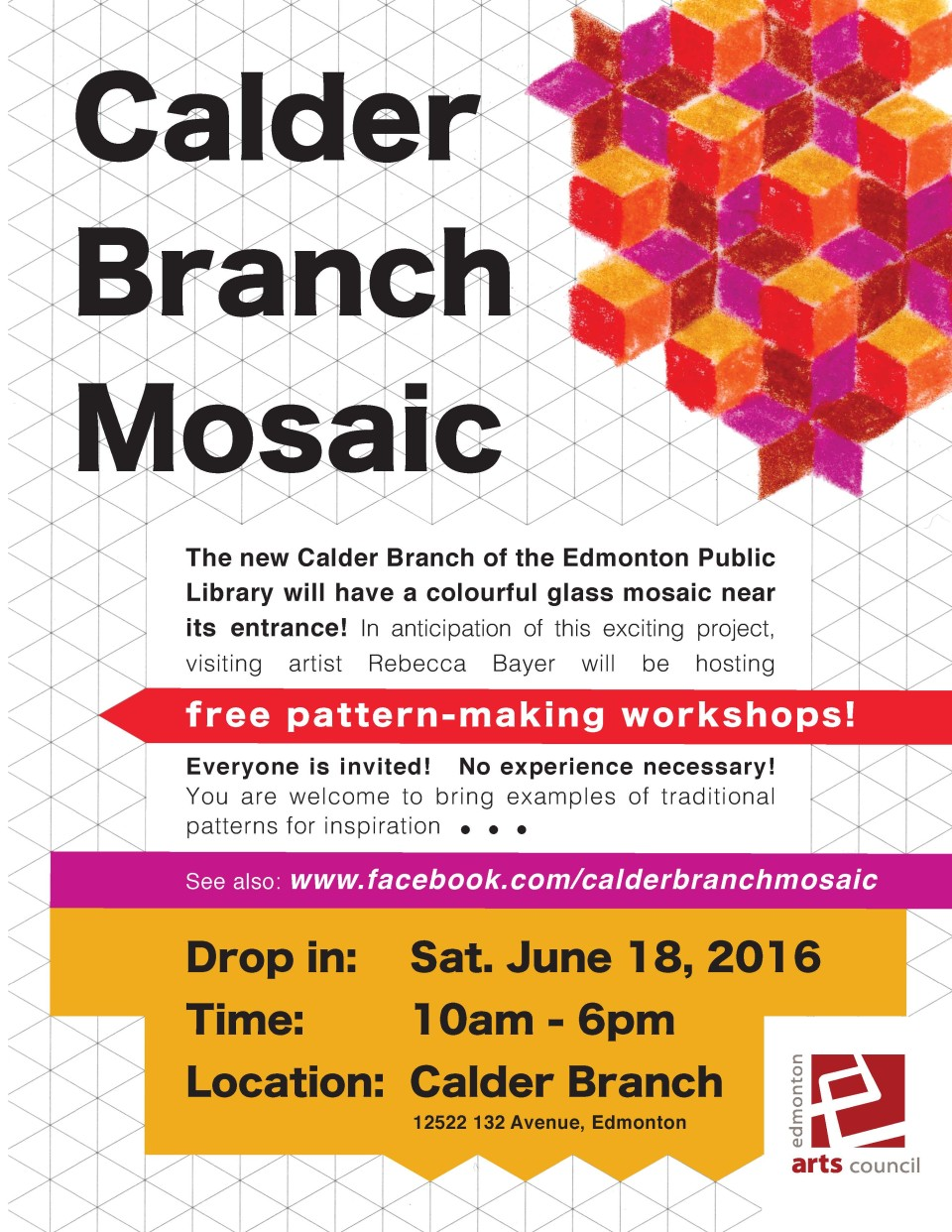 Calder Branch Mosaic Workshop Poster