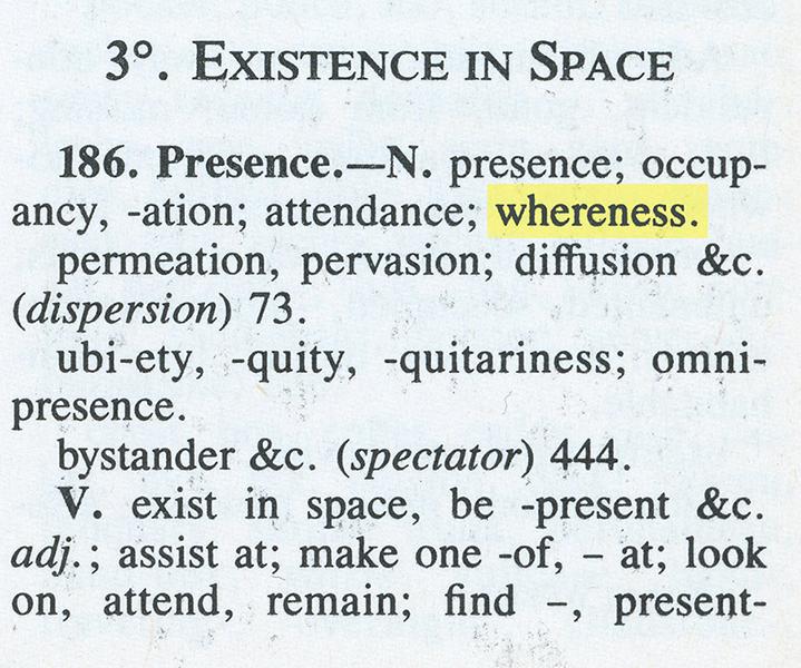 Whereness